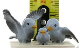 Hagen Renaker Miniature Bluebird Family Ceramic Figurine Set of 3 image 2