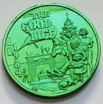 The Good Life / Chief  Chogtaw MARDI GRAS 1984 Thick Aluminum Token - $1.95