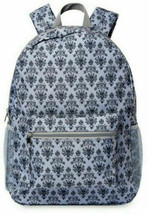 NWT Disney Parks Haunted Mansion Wallpaper Backpack Ghost Canvas Gray - $29.69
