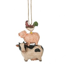 Rooster, Pig and Cow Ornament - $14.95