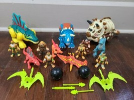 Fisher Price Imaginext Caveman And Dinosaur Figures Accessories Lot - $48.37