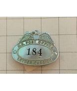 Antique U.S. Post Office Letter Carrier #184 Badge - $125.00