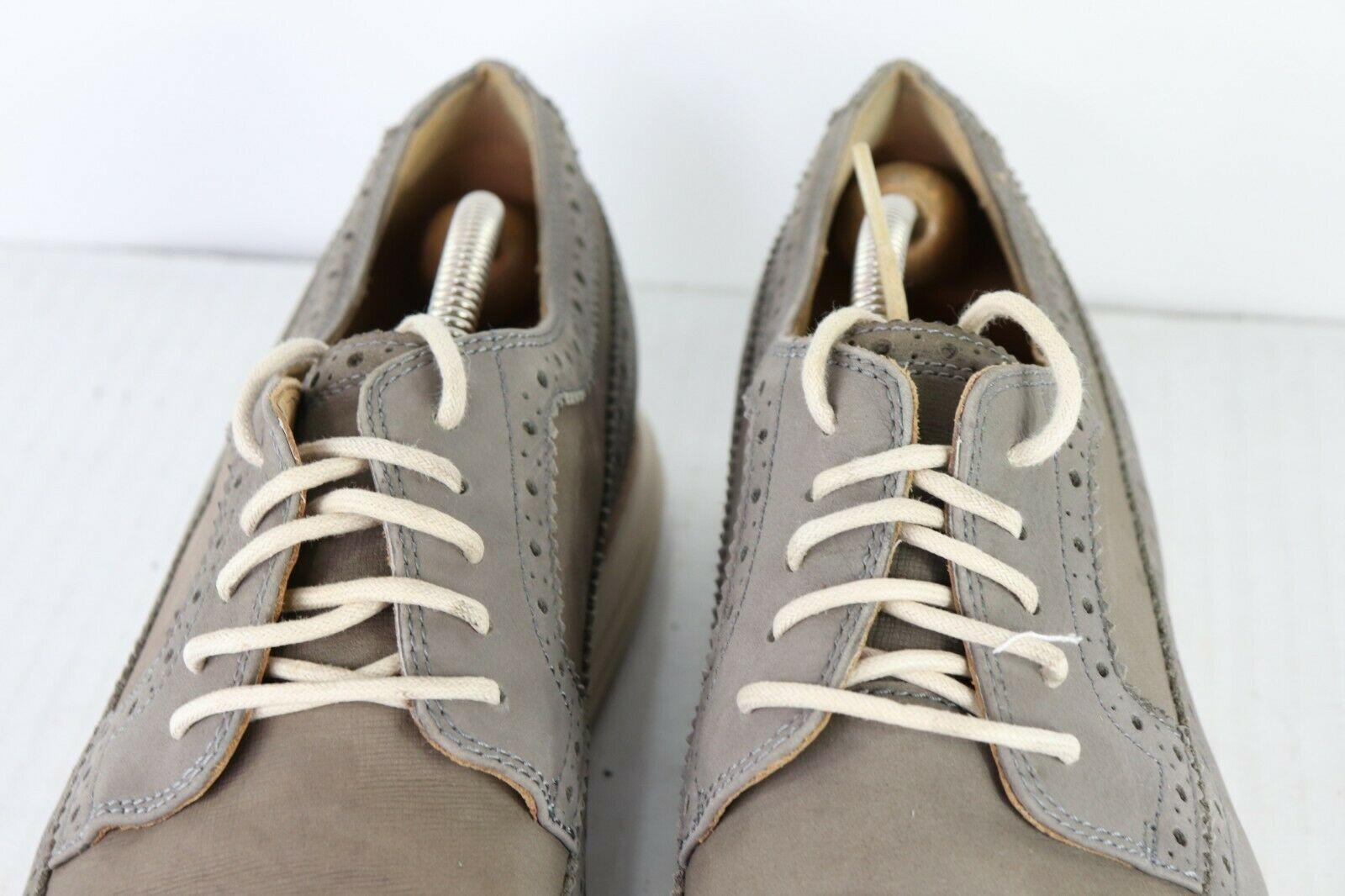 Cole Haan Lunargrand Hombre Talla 11.5 M Piel Zapatos Oxford Vestido Gris