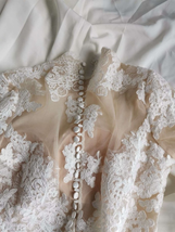 New Sexy Long Sleeve Lace Illusion High Neck Mermaid Wedding Dress image 11