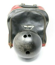 Amflite BK667 Black Vintage Bowling Ball AMFLITE 16 Pounds w/ Bag Shoes ++ - $49.01