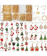 1107 Pieces Christmas Earring Making Kit, Including Earring Hooks with C... - $44.29