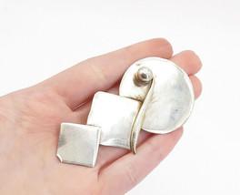 925 Sterling Silver - Vintage Modernist Graduated Shapes Brooch Pin - BP... - $57.61