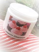 raspberry chocolate shea body lotion, skin care, raspberry chocolate cream - $8.00