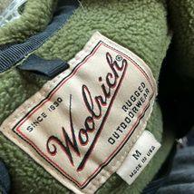 WoolRich Fleece Jacket Men's Medium Olive Green Full Zip Thick Fleece image 3