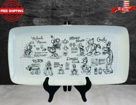 Disney Sketchbook Rectangle Serving Platter Mickey Mouse and Friends Fre... - $44.50