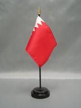 "Bahrain 4X6"" Table Top Flag W/ Base New Desk Top Handheld Stick Flag - $4.95"