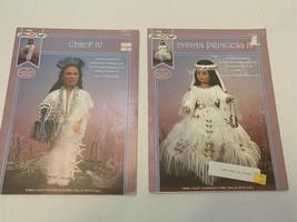 Vtg Fibre Craft Indian Princess IV and Chief IV Doll Wedding 14 Inch Pat... - $11.87