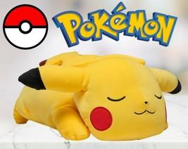 """Pokemon 18"""" Sleeping Pikachu Soft Jumbo Large Plush Pillow Buddy - NEW W-TAGS - $70.11"""