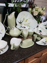 Red Wing Pottery Capistrano 8 Piece Service For 8 PLUS  17 PC SERVING BO... - $940.45