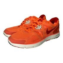 Nike Womens Lunarglide+ 3 Running Shoes Orange 454315-860 Low Top Lace U... - $24.74