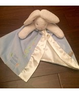 Bunnies By the Bay Best Friends Indeed White Bunny Blue Security Blanket - $9.00
