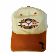 NCAA College Football Hat Cap vtg Texas Longhorns strapback Austin 1883 Hook Em - $19.25