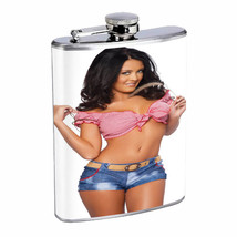 Oklahoma Pin Up Girls D5 Flask 8oz Stainless Steel Hip Drinking Whiskey - $12.82