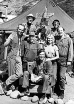M.A.S.H TV series Hawkeye & cast pose outside tent 5x7 inch photo - $5.75