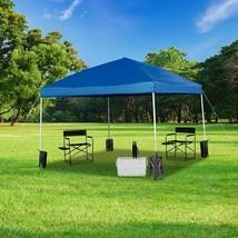 Dura10'x10' Blue Pop Up Event Straight Leg Canopy Tent w/Sandbags & Whee... - $194.69