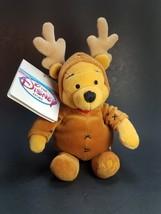 "Disney Retired Beanie Plush ""Winnie The Pooh"" Reindeer w/Tags 8"" - $8.59"