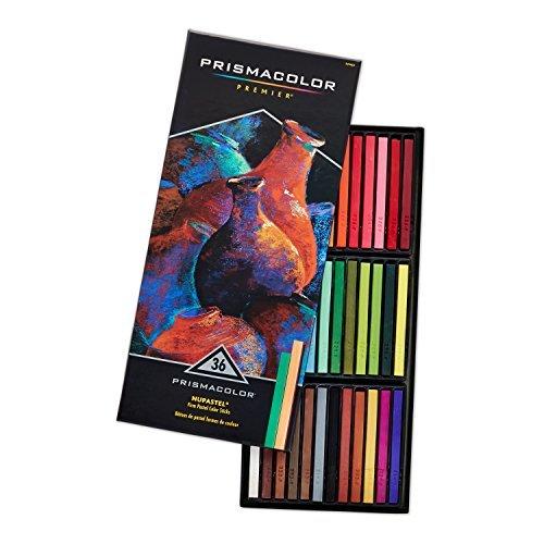 Prismacolor 27050 Premier NuPastel Firm Pastel Color Sticks, 36-Count