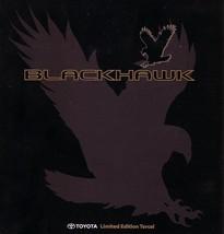 1996 Toyota TERCEL BLACKHAWK EDITION sales brochure catalog folder - $6.00