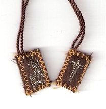 "Brown Scapular of Mount Carmel - Tiny  - 1/2"" x ¾"" - 060.0001"