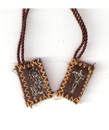 "Brown Scapular of Mount Carmel - Tiny  - 1/2"" x ¾"" - $2.99"