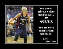 Inspirational Elena Delle Donne Basketball Motivation Quote Poster Birth... - $19.99+