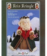 Kris Kringle Santa Claus Doll Outfit Fibre Craft Crochet Pattern Leaflet RARE - $3.12