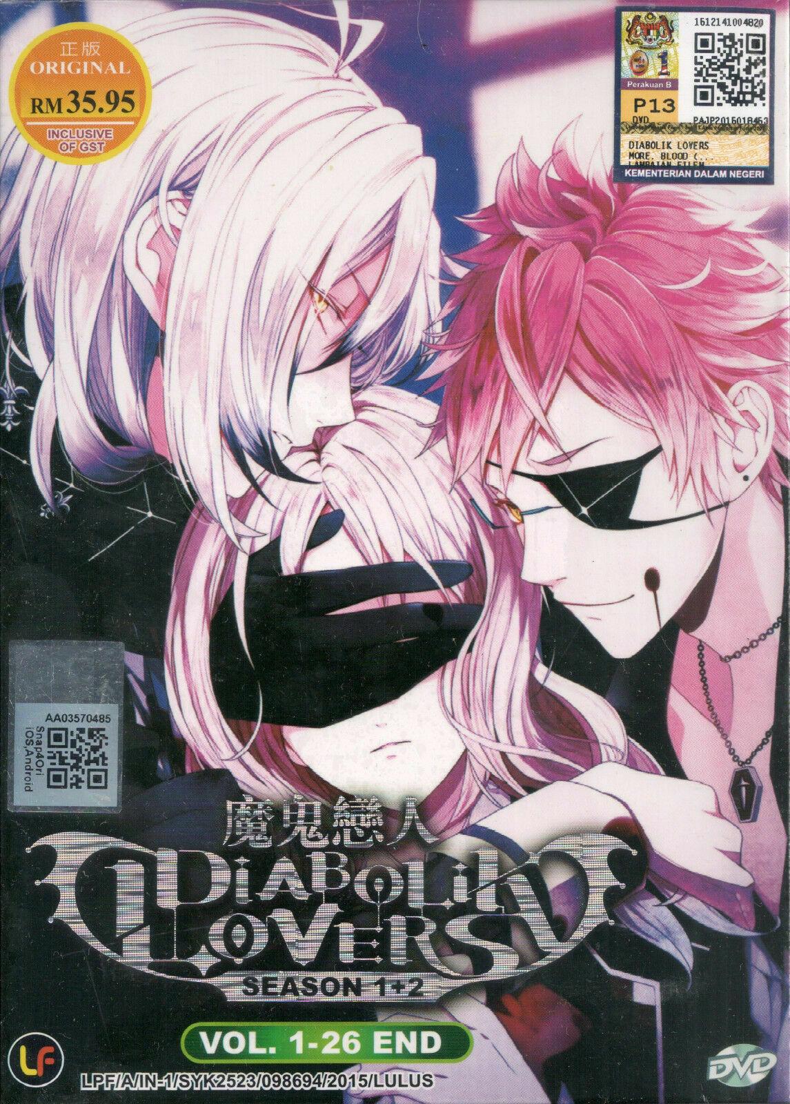 DVD Anime Diabolik Lovers Complete Season 1+2 (Vol.1-26 End) English Subtitle