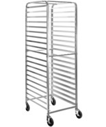Mobile baking Pan Cart Rack Commercial Kitchen 20 Sheet Bun Pan Bakery R... - $207.95