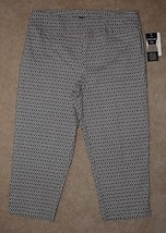 New Zac & Rachel Cropped Pants Ultimate Fit Capris Tummy Slimming Pull On Sz 14 - $22.43