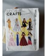 Mccall's Basteln Barbie Puppe Bekleidung Muster M6232 W / Vorgeschnitten... - $30.39