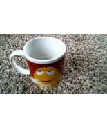 -132- M&M Coffee Cup Mug – Red and Yellow - $15.30