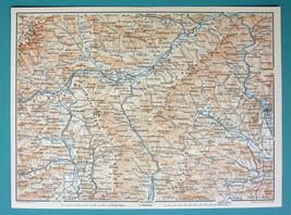 "1905 MAP Baedeker - AUSTRIA Graz Leoben Wolfsberg & Environs 6 x 8"" (15 ... - $6.08"