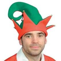 Fun World Festive Two-Tone Adult Christmas Elf Hat with Jingle Bells - €10,43 EUR