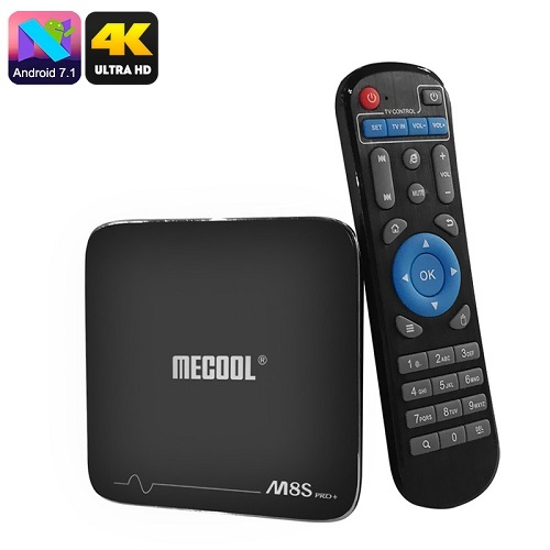 MECOOL M8S Pro+ Android TV Box - Android 7.1,4K ultra HD ,WiFi ,8GB Google Play for sale  USA