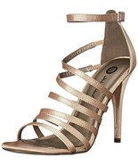 NIB Michael Antonio Women's Eve Sat Dress Sandal Champagne Size 6.0 Beig... - $28.41