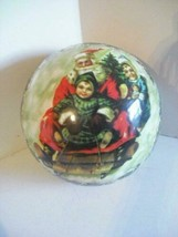 Made in Germany Christmas Holiday large Gift Ball Santa Sleigh ornament - $19.80