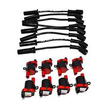 """A-Team Performance D585 Ignition Coils & 11"""" 8.0mm Spark Plug Wires Compatible W"""