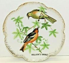 "Vintage ESD Japan Bullock's Oriole Decorative Bird Plate Wall Hanging 7""... - $17.82"