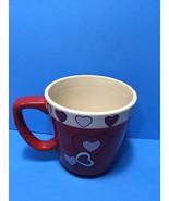 Large Valentines Coffee Mug With Hearts For Keurig Use Hot Chocolate Tea... - $8.95