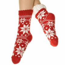 Angelina Women's 3 Pack Christmas Sherpa Lined Thermal Socks with Gift Tags image 7