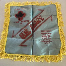 Original WW2 US Army Sweetheart Pillow Sham / Cover 43rd Div Camp Picket... - $24.99