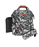 Diaper Bag Backpack for Men: Graffiti Print back pack, Water resistant, ... - $65.41