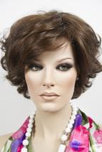 Chestnut Brown Dark Auburn Frost Brunette Short Lace Front Monofilament Wav Wigs - $282.74