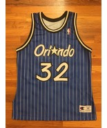 Authentic 1994 Orlando Magic Shaquille O'Neal Blue Road Jersey 48 champion - $309.99