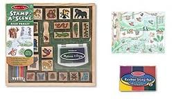 Melissa & Doug Wooden Stamp Activity Set plus FREE Rainbow Stamp Pad - $29.65